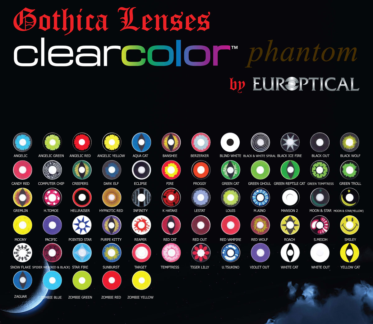 Gothica Contact Lenses 2pack